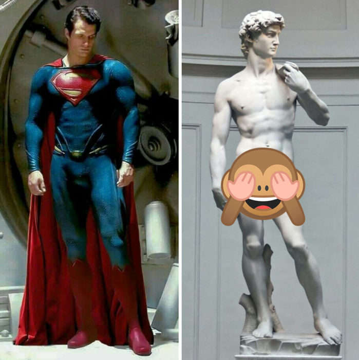 Henry Cavill es una escultura griega
