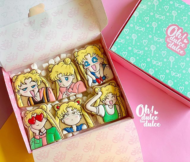 Galleta creada por Amaranta Leal V.  inspirada en Serena, Sailor Moon