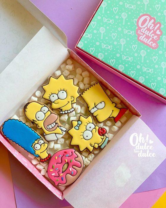 Galleta creada por Amaranta Leal V.  inspirada en Los Simpson