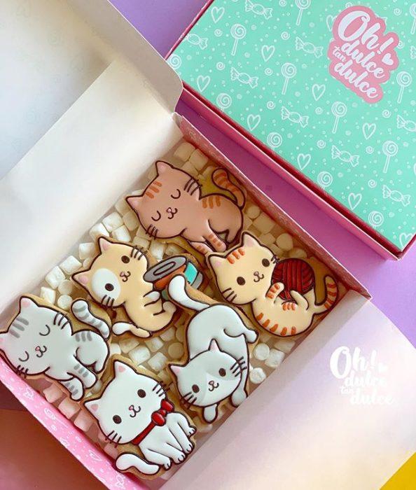 Galleta creada por Amaranta Leal V.  inspirada en pequeños gatitos