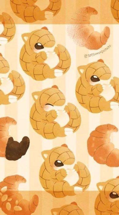 Fondo de pantalla inspirado en el pokémon Sandshrew