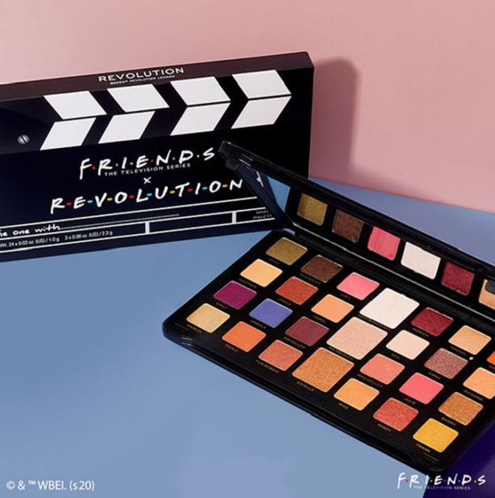 27-color eyeshadow palette from the Reevolution makeup collection inspired by Friends