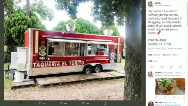 Camión con venta de tacos