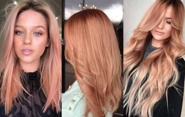 Fall 2020 trend hair dyes; strawberry blonde color, strawberry blonde