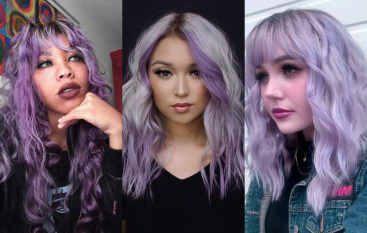 Fall 2020 trend hair dyes; lavender fantasy color