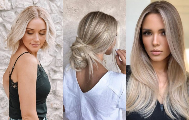 Fall 2020 trend hair dyes; creamy blonde color