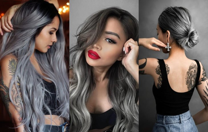 Fall 2020 trend hair dyes; Gray
