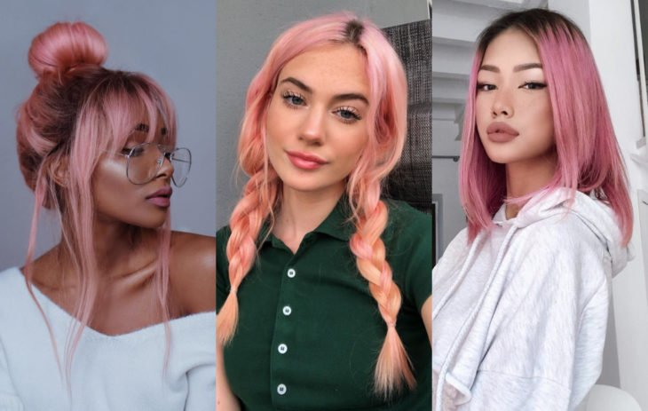 Fall 2020 trend hair dyes; pink colour