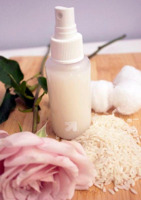 Rice water facial toner