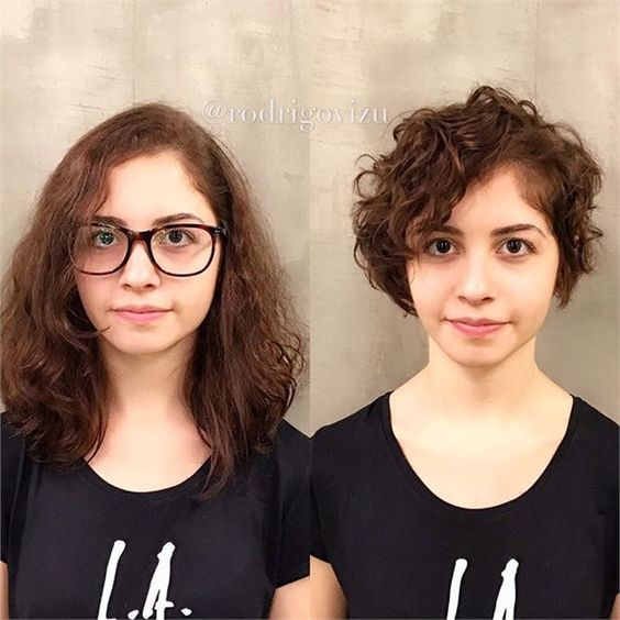 Before and after haircuts