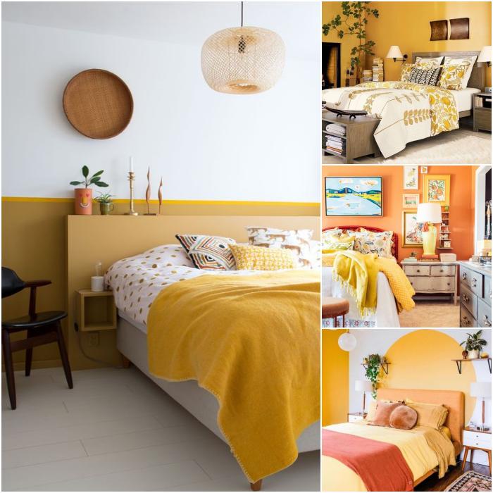 habitaciones en colores amarillo, naranja, blanco y verde