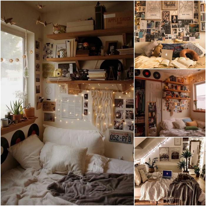habitaciones con estilo vintage en colores blanco, beige y neutrales