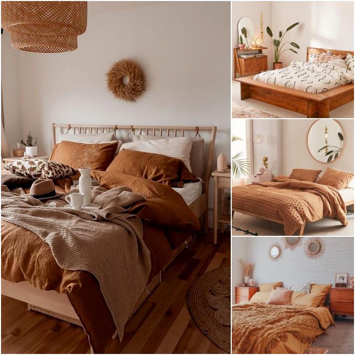 habitación en colores neutrales beige, café claro, nude