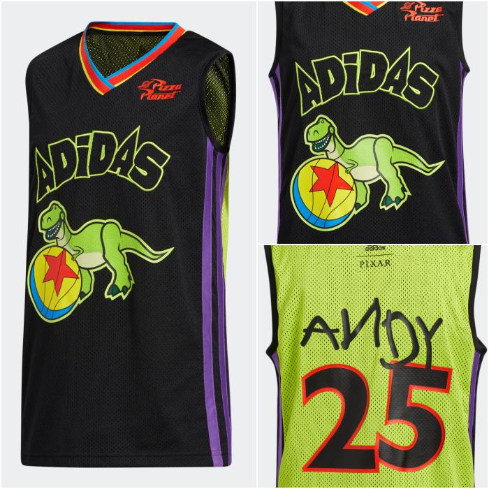 playera basketball adidas colección toy story 2020