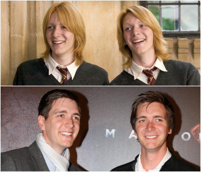 Oliver y James Phelps como Fred y George Weasley