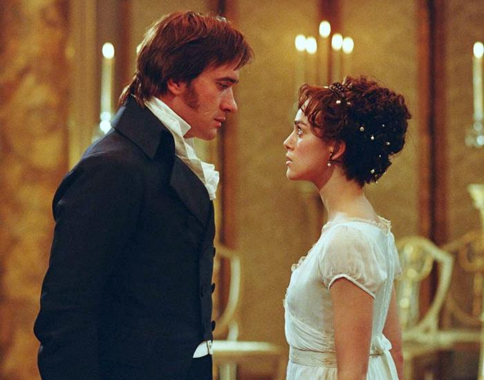 Matthew Macfadyen y Keira Knightley como Mr. Darcy y Elizabeth Bennet
