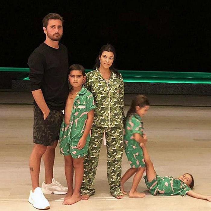 kourtney kardashian y scott disick con sus hijos