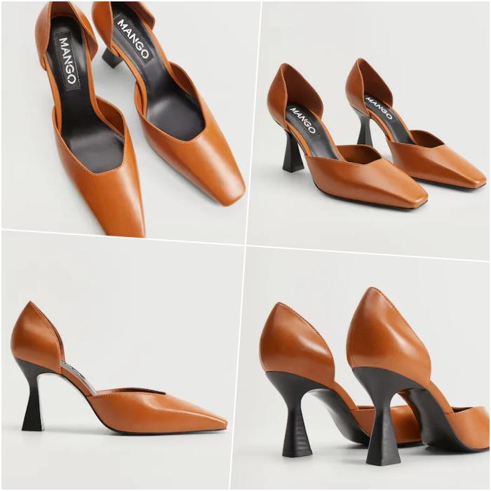 zapatos zapatillas de tacón naranja