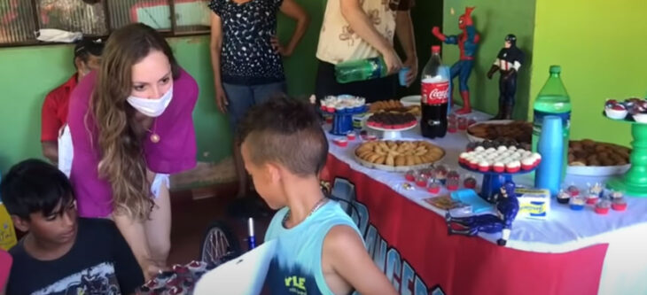 Gabriel festejando su fiesta de 6 años