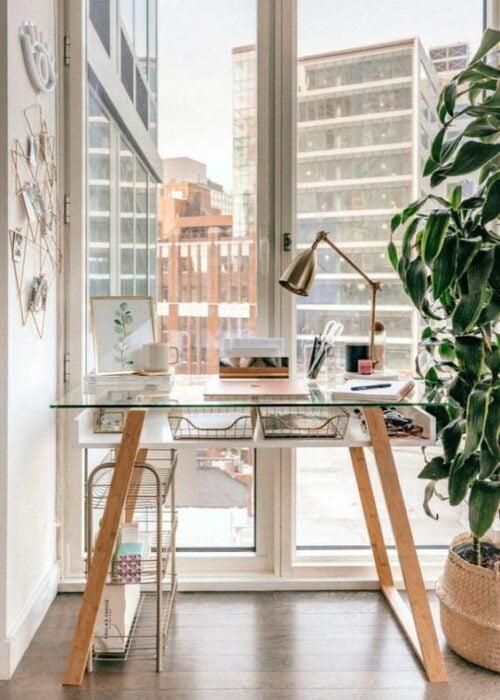 Decoración del hogar de la zona del estudio estilo Pinterest