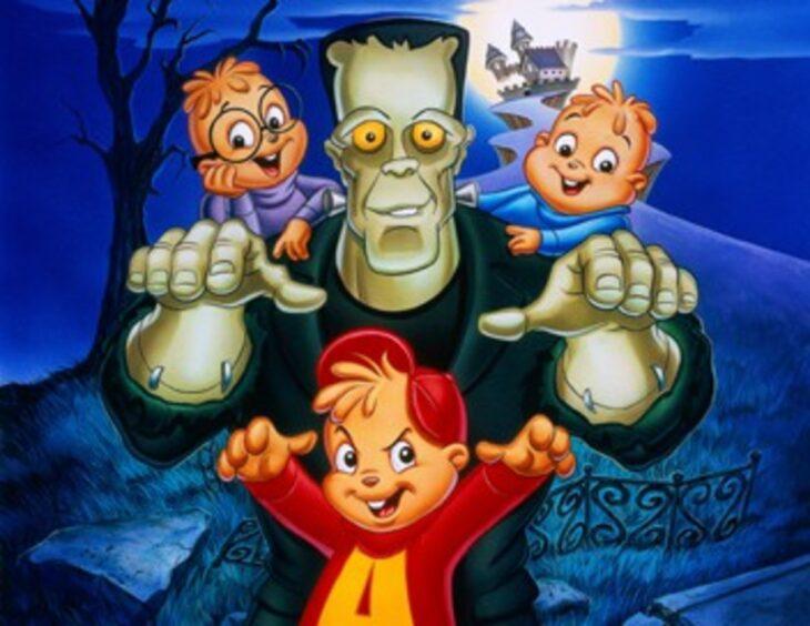 Escena de la película animada Alvin y las ardillas conocen a Frankenstein