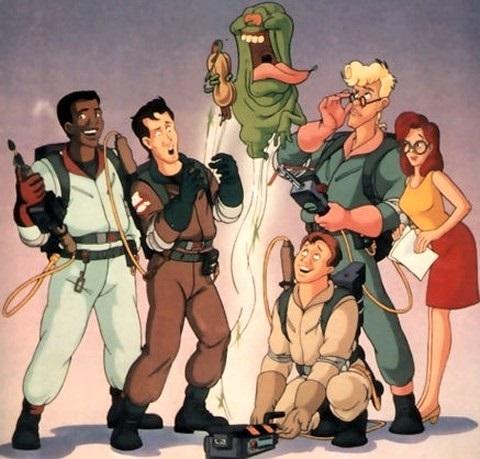 Escena de la caricatura animada Los verdaderos Cazafantasmas