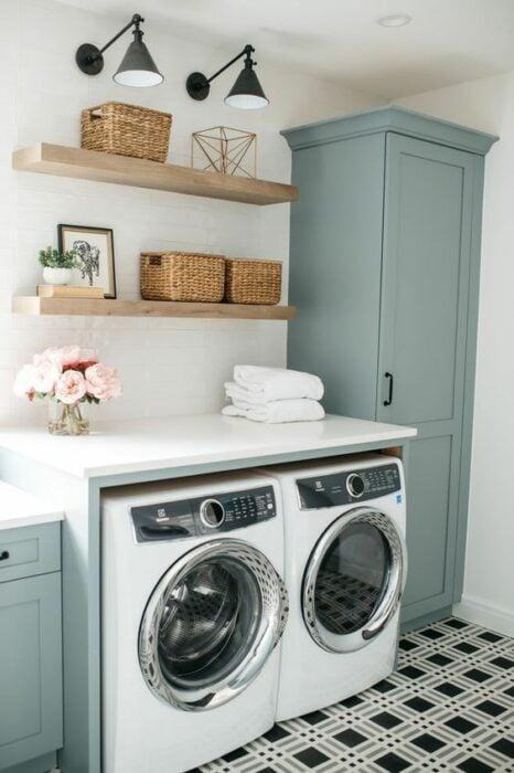 Decoración del hogar del área de la lavandería estilo Pinterest