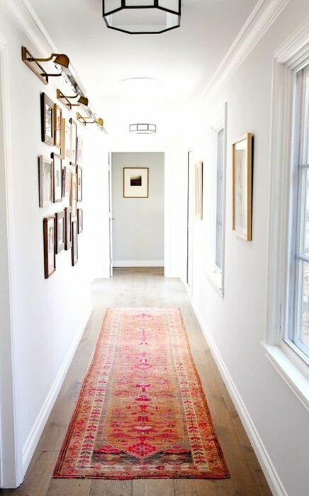 Decoración del hogar del área del pasillo estilo Pinterest