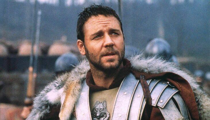 Escena de la película El Gladiador. Máximo Décimo Meridio luchando en la guerra