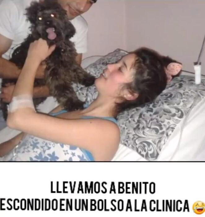 Screen shot de una publicación hecha por Belén, de Johanna y Benito en el hospital