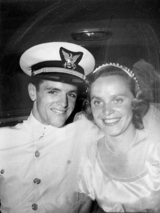 Eileen Delaney el día de su boda