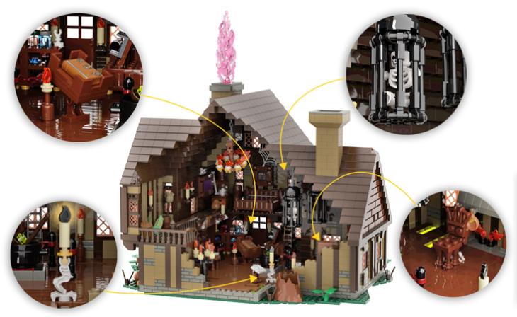 Casa de las hermanas Sanderson de Lego