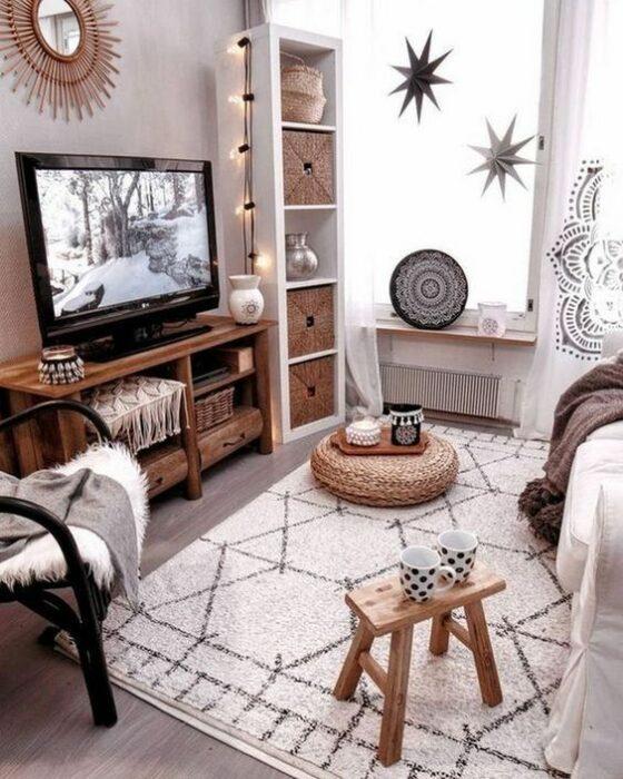 Decoración del hogar del área de la sala estilo Pinterest