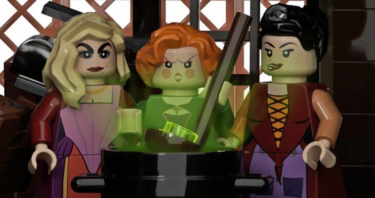 Muñecas lego de las hermanas Sanderson de Hocus Pocus
