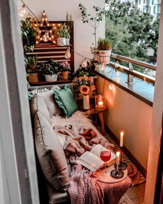 Decoración del hogar de la zona del balcón estilo Pinterest