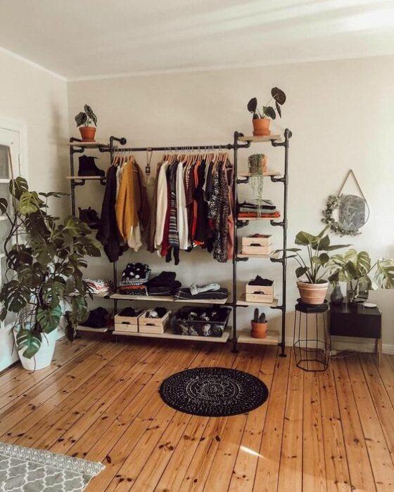 Decoración del hogar de la zona del closet/armario estilo Pinterest