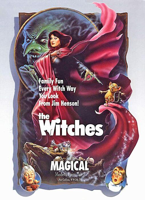 Portada de la película de las brujas de 1990