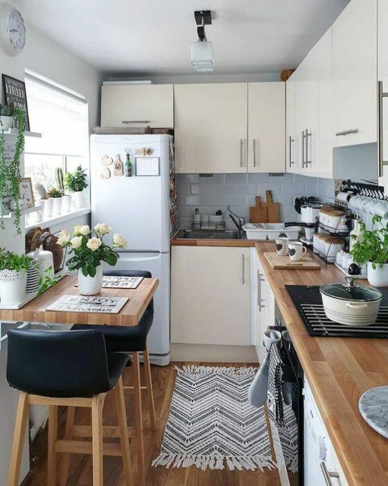 Decoración del hogar del área de la cocina estilo Pinterest