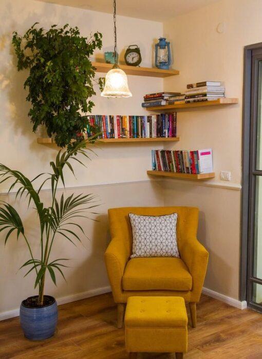 Decoración del hogar de una zona para leer estilo Pinterest