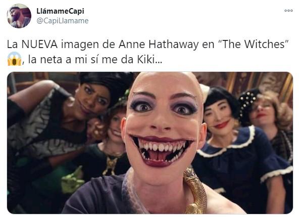 Tuit sobre Anne Hathaway como la Gran Bruja