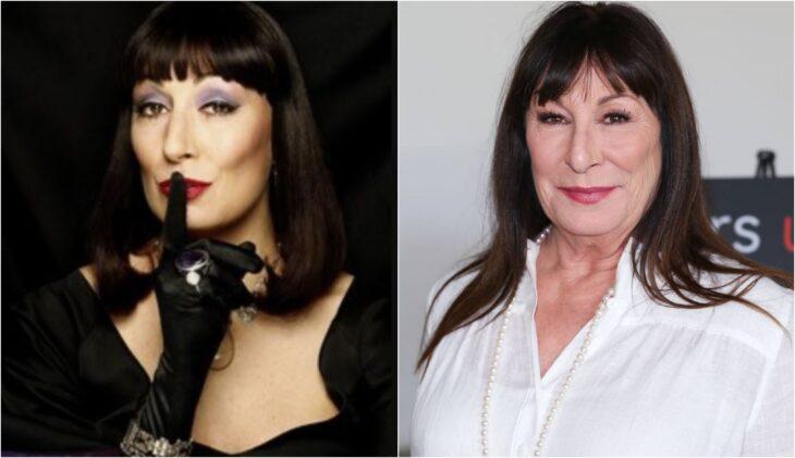 Anjelica Huston; antes y después de participar en la película original de 'Las Brujas'