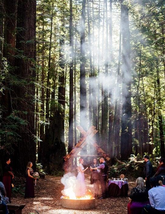 Ideas para una boda vikinga; bosque