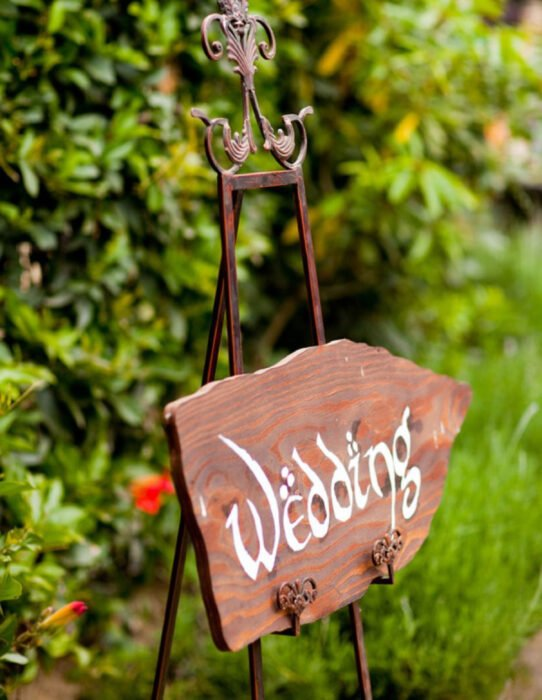 Ideas para una boda vikinga; letrero
