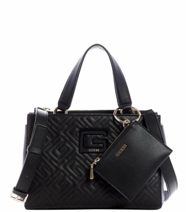 Bolso tipo satchel de Guess en color negro