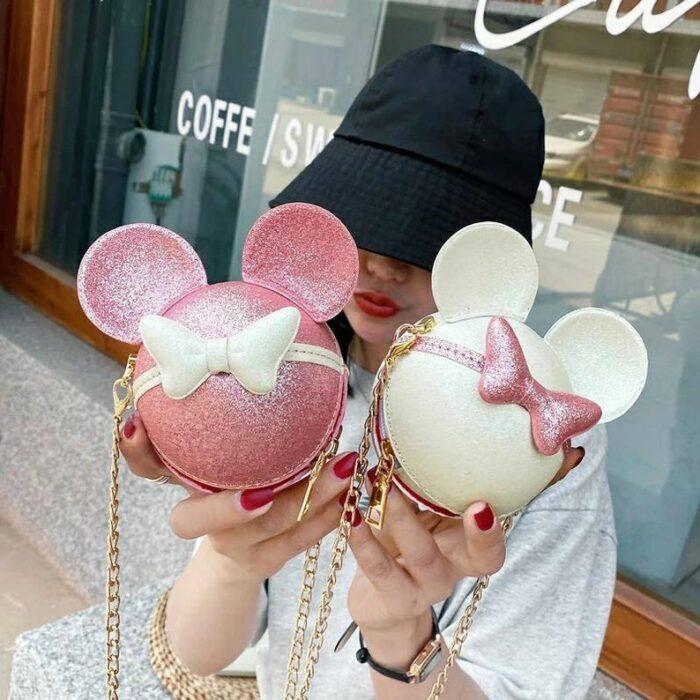 Bolsos con glitters inspirados en Mickey y Minnie Mouse
