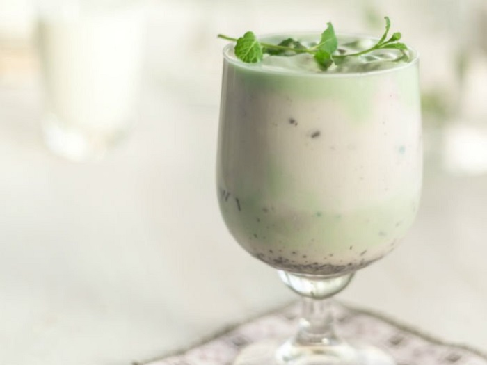 Chocolate blanco y menta