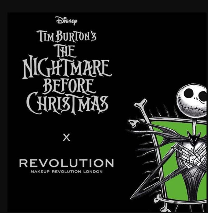 Publicidad de la colecciónMakeup Revolution x Nightmare Before Christmas