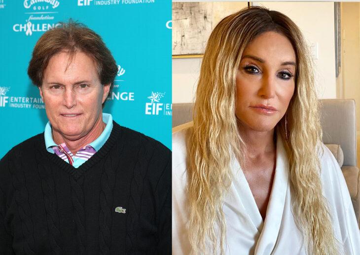Bruce Jenner y Caitlyn Jenner en el primer episodio de la serie Keeping up With the Kardashian vs el último capítulo