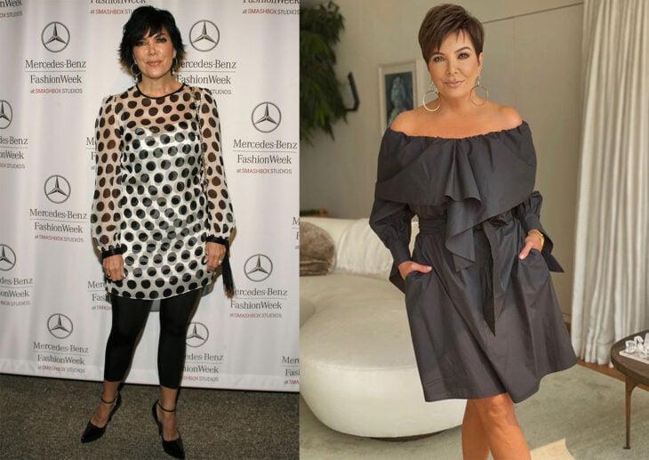 Kris Jenner en el primer episodio de la serie Keeping up With the Kardashian vs el último capítulo