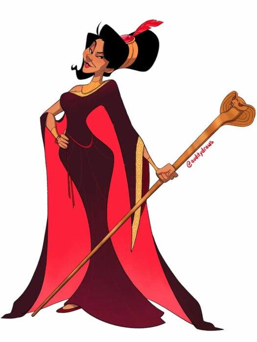 Jafar convertido en princesa